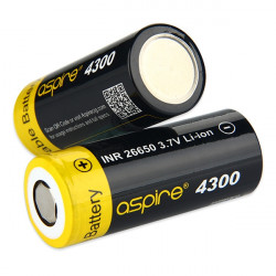 Accumulateur Aspire INR 26650 4300 mAh 3.7V