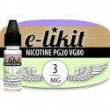 Nicotine 3 mg - PG20 VG80