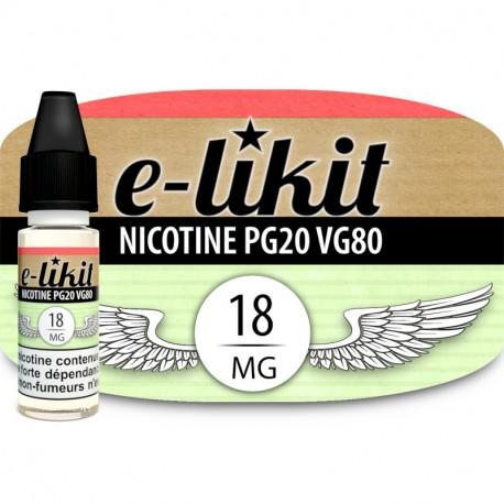 Nicotine 18 mg - PG20VG80