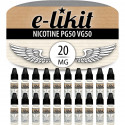 Lot de 20 x Nicotine 20 mg - PG50 VG50