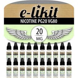 Lot de 20 x Nicotine 20 mg - PG20 VG80