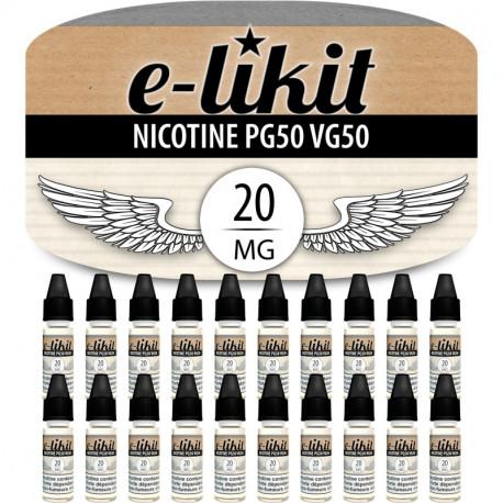 Lot de 20 x Nicotine au choix - PG50 VG50