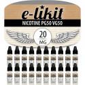 Lot de 20 x Nicotine - PG50 VG50