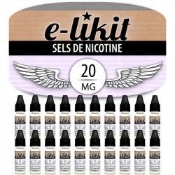 Lot de 20 x Sels de nicotine 20 mg - PG50 VG50